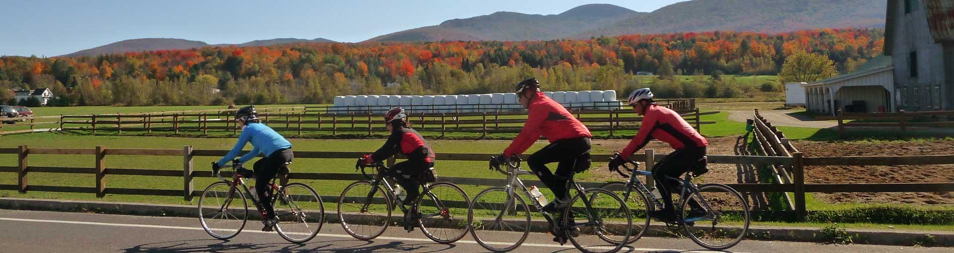Tourisme Sutton : Le vélo à Sutton en automne